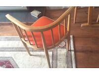 REDUCED ***Vintage table & 4 chairs