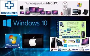 Réparations Ordinateur Laptop , Desktop, Ultrabook, Macbook Air Retina , Imac, Mac mini, Systeme  Apple & Window