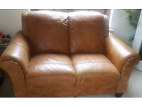 DFS Peyton Ranch 2 seater leather sofa for sale - Bargain price £150