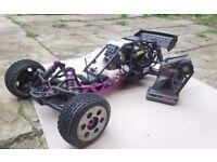 HPI BAJA 1/5 2 STROKE PETROL RC CAR, 23CC ENGINE, X-CAN