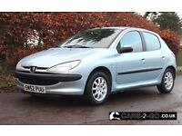 **FULL 1 YEAR MOT** Peugeot 206 1.4 Look 5 Door Metallic Silver/Blue