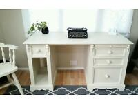 Solid pine writing desk shabby chic