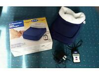 Scholl Fleece Foot Massager / Warmer