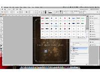 ADOBE INDESIGN, PHOTOSHOP, ILLUSTRATOR CS6 etc... MAC or PC