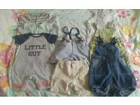 Baby boy summer 3 to 6 nearly new clothes bundle