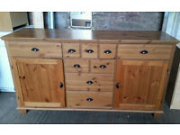 Large Solid Pine Sideboard