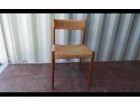 A vintage teak framed Danish chair by HW Klein for Bramin