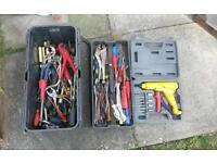 Box full of hand tools