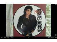 Michael Jackson bad picture vinal
