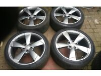 """GENUINE 18"""" AUDI ROTOR ALLOY WHEELS IN DEMAND 5 X 112 AUDI A3 S3 VW GOLF VAG FIT"""