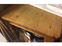 Old Pine Farmhouse Table & Six Chairs