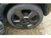 "Corsa sri 16"" black alloys wheels"