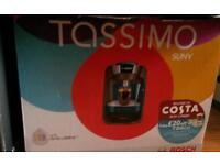 Boxed bosch tassimo coffee machine