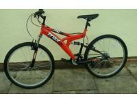 Trax mountain bike Full suspension 18""
