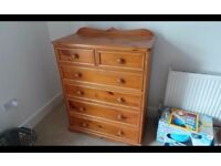 Hand Made Quality Solid Pine Chest Of draws,Can Deliver