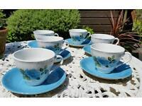 Kitsch retro vintage teacup and saucer set