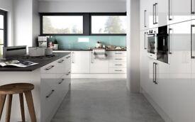 6 Piece 18mm Kitchen Units - White Gloss - BRAND NEW