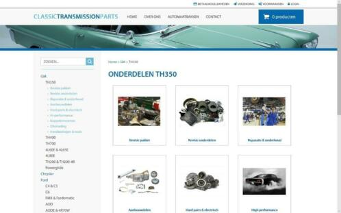 GM TH350 automaatbak onderdelen, C.T.P. online shop