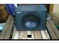 Mutant 12inch sub and amp package with cables, hardly used