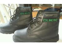 Steel top cap boots size 8 -NEW