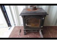 Harmony 13 cast black wood and multifuel stove 07448733546