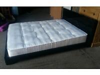 Black Gloss Kingsize Bed