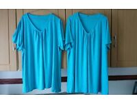 2 New ladies blue tops 20/22