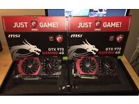 2x MSI GeForce GTX 970 GAMING 4G (4096 MB) Graphics Card