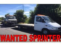 Mercedes Benz sprinter 208d 308d 310d 312d wanted!!!