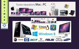 ***OUEST Montréal  APPLE  &  WINDOW  Réparation Professionnel  Ordinateurs, Imac, Macbookpro, Macbook Air, Allienware,