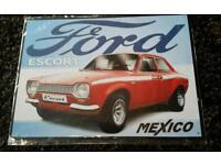 Metal ford mexico escort sign