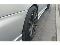 """Subaru wrx 18"""" rota force alloys 5x100 235 40 18 only few weeks old sell or swap for best kids quad"""