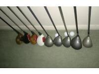 Golf clubs x9