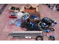 Electrical equipment/wiring/data/computer job lot fibre, cat 6 data, power etc
