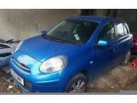 Nissan Micra 2011, blue, 5 doors, petrol, manual Breaking for parts sale