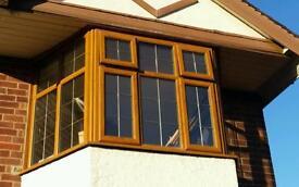 UPVC light oak windows various sizes available