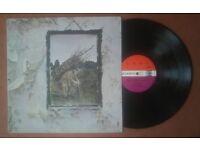 Led Zeppelin IV - RARE PETER GRANT 1ST UK VINYL PRESSING