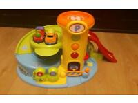 ELC garage with magnetic cars