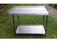 catering table stainless steel corner unit