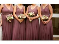 4 Beautiful Mauve Bridesmaid's Dresses