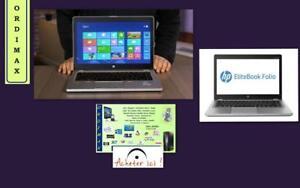 "***OUEST  ULTRABOOK  HP FOLIO 9470M   14"" / Intel i5 / 180 GB  SSD  / 8Gb memoire/ Tx inc.   514- 522-888"