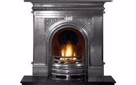 Beautiful Pembroke Cast Iron fireplace - with granite hearth - excellent condition