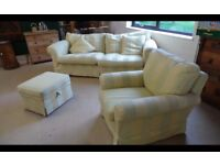 DURESTA Three Piece Suite- With Armchair And Footstool ,Delivery Available