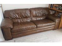 large leather 3 seater sofa
