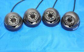 IR LAB Dome Surveillance Security Camera's / Black