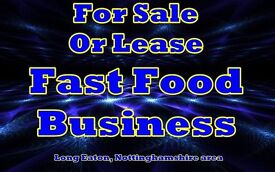 Fast Food Takeaway Business for lease or freehold in the Long Eaton, Nottinghamshire area