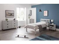 Julian Bowen Luna Dove Grey Single Bed (BED ONLY) Can Deliver
