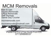 MCM Removals | Cheap Removals | Rubbish Clearance | Storage Removal | Man And Van | House Removals