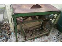 Table saw for logs wood burner