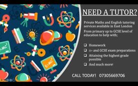 Maths and English tutoring services